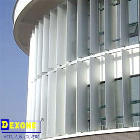 Motorized Awning Aluminum Architectural Shades Louver Fins Buy