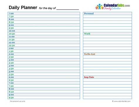 Daily Planner Template 2018 Cortezcolorado Net Daily Planner Template 2018