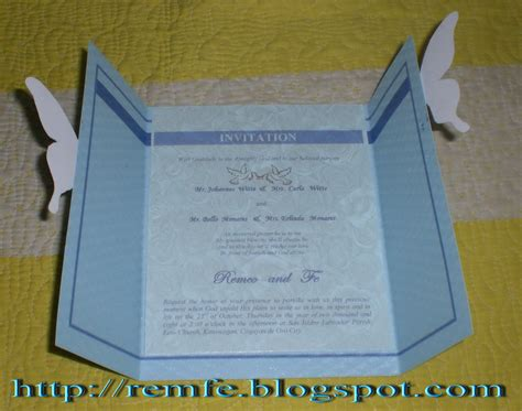 how to make a simple wedding invitation card my wedding invitation craft and fashion