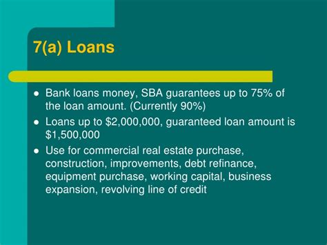 small business financing sba loans