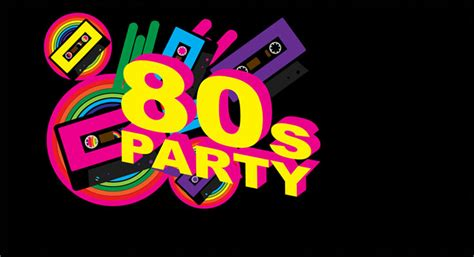 Retro 80 S Card Templates by Theme Invite 123 Invitations