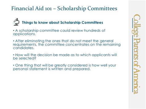 Financial Need Letter Financial Aid 101 Scholarship Personal Statement
