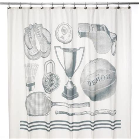 sports themed shower curtains buy sports shower curtain from bed bath beyond