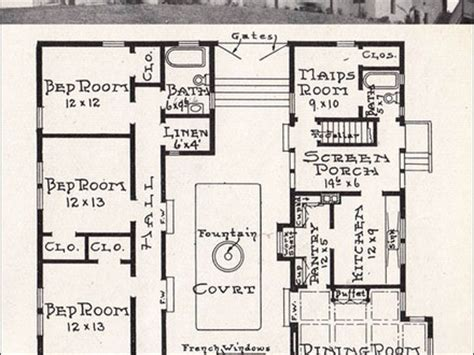 mission house plans spanish revival bungalow spanish bungalow house plans