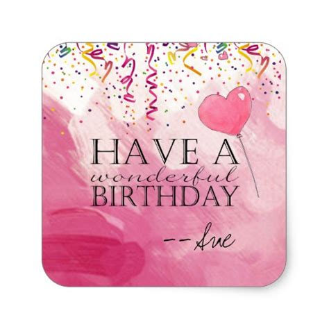 Stickers For Birthday Cards Confetti Filled Birthday Wishes Stickers Zazzle
