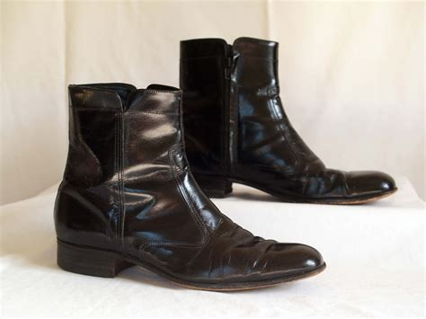 mens beatle boots vintage mens beatle boots ankle boots black leather by