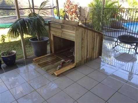 diy outdoor dog house diy pallet outdoor pet dog housing plans 99 pallets