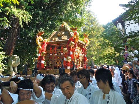 awata jinja festival green shinto