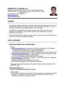 Resume International Format Free Resume Templates Standard Format Download Samples