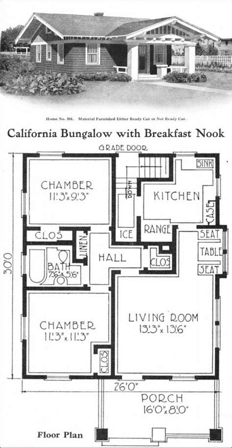 14 Best Images About Historic Small Tiny Homes On House Floor Plans California
