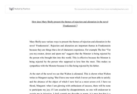 themes in frankenstein pdf how does mary shelly present the themes of rejection and