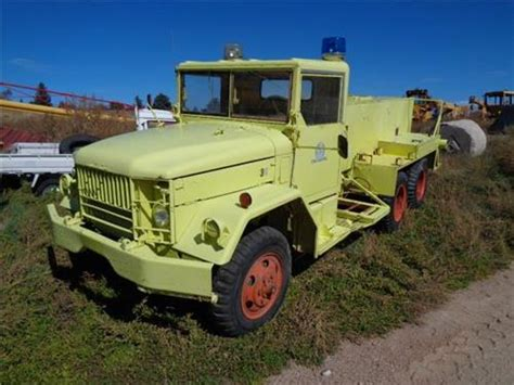 vintage  studebaker  military style fire truck gas