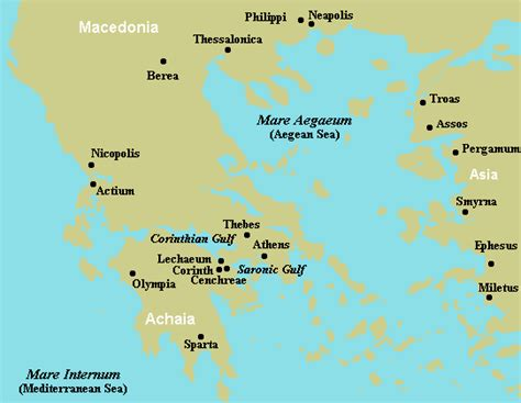 map of corinth with paul at corinth thpastor