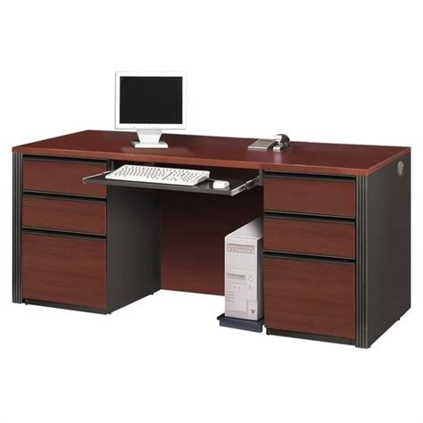 Bestar Prestige Double Pedestal Wood Computer Desk In Bestar Computer Desk