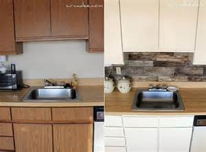 Vinyl Wallpaper Backsplash Rustic kitchen backsplash