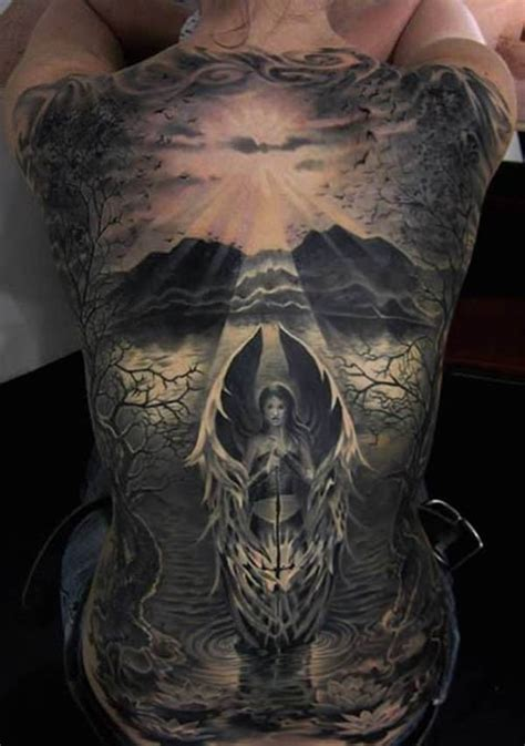 tattoo 3d full back 54 angel tattoos on full back
