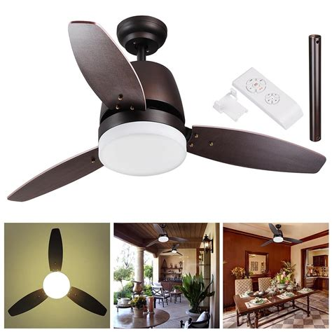 48 aislee 3 blade ceiling fan with remote 42 quot 48 quot 52 quot flush mount ceiling fan light kit with remote