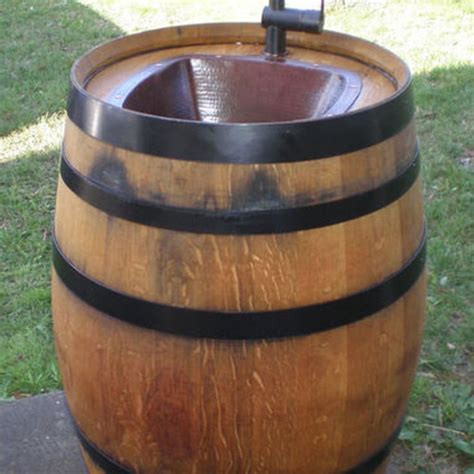 keg bathroom sink easy diy keg sink for your backyard easy diy backyards