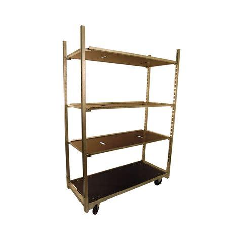 Cart Shelf by Galvanized Cart W Base Shelf 4 Adj Shelves Pride