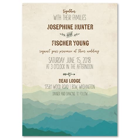 the range wedding invitations mountain rustic wedding invitations vintage recycled pap with how to find the right wedding