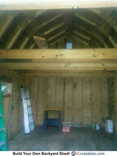 gambrel shed plan loft owners shed pictures