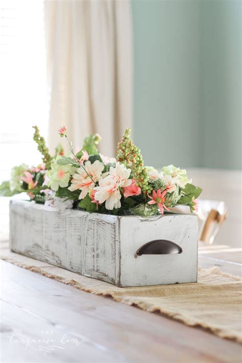 diy farmhouse wooden box centerpiece  imagine