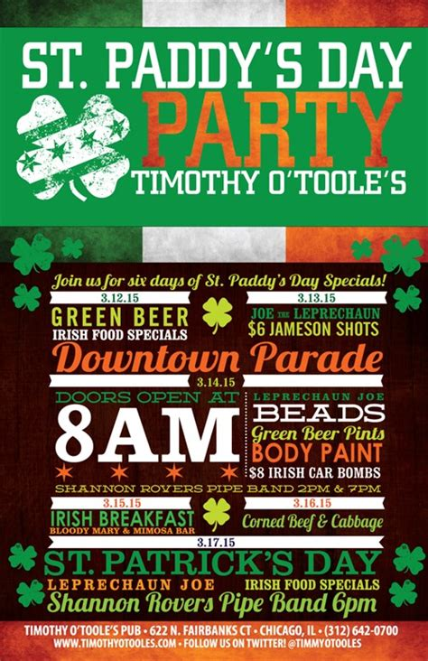 st s day deals st s day specials and events timothy o toole s