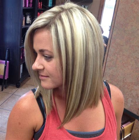 highlights and lowlighted blunt cut bob 17 best images about chunky streaks lowlights 3 on