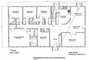 5 bedroom floor plan ameripanel homes of south carolina ranch floor plans