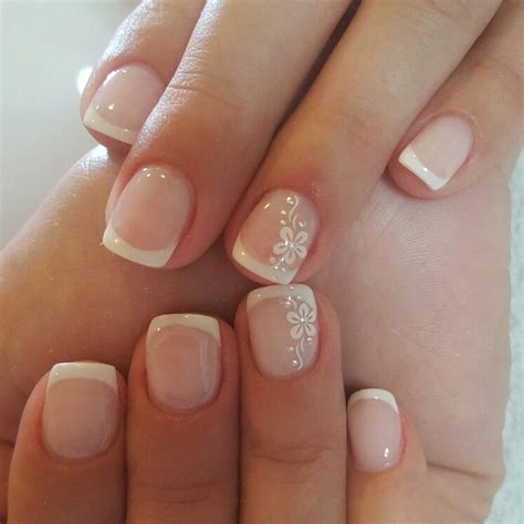imagenes de uñas acrilicas frances u 241 as french nail designs for short nails pinterest