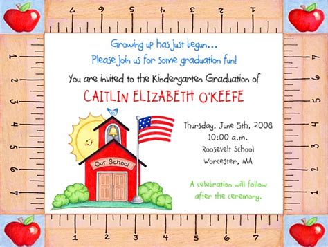 kindergarten preschool graduation invitations graduation