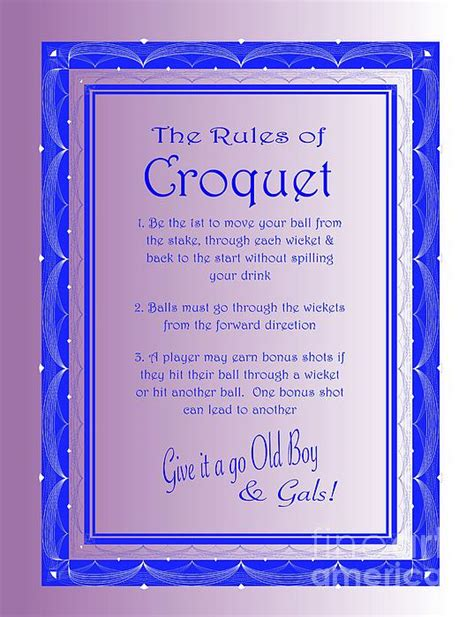 backyard croquet rules the rules of croquet by nancy patterson