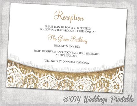 reception detail card free template rustic reception invitation template diy printable