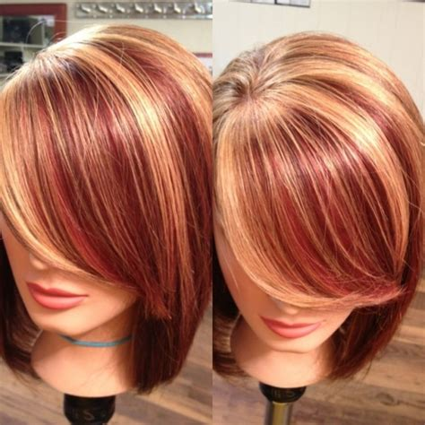 red hair with red highlights or lowlights red hair with highlights and lowlights highlights red