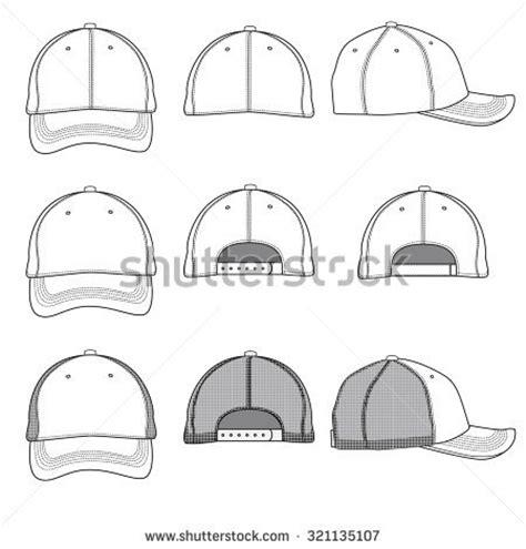 Vector Template Illustrations Ball Cap Stock Vector 321135107 Shutterstock Baseball Cap Template Illustrator