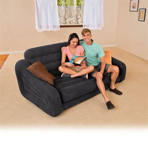 queen size pull out sofa bed intex inflatable queen size pull out sofa couch bed dark