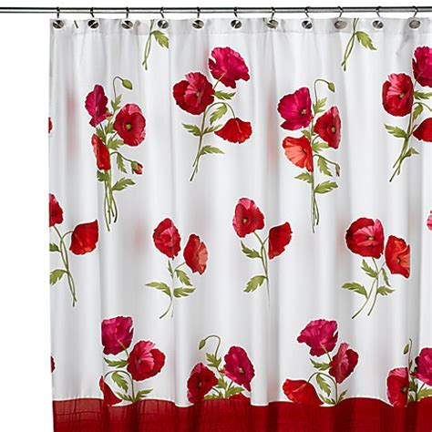 poppies shower curtain red poppies shower curtain bed bath beyond