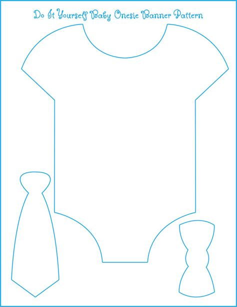Onesie Template For Baby Shower Banner | eight exles of baby shower themes with free onesie