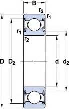 Bearing Skf 6304 2rsh low vibration single row groove bearings 6304