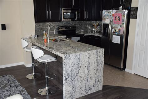 Staining Kitchen Cabinets Cost by White Ice Granite Countertops Pictures Cost Pros And Cons