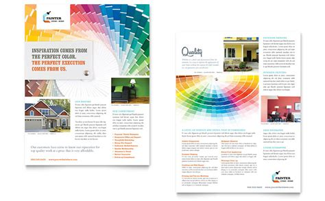 house painting contractor datasheet template word publisher