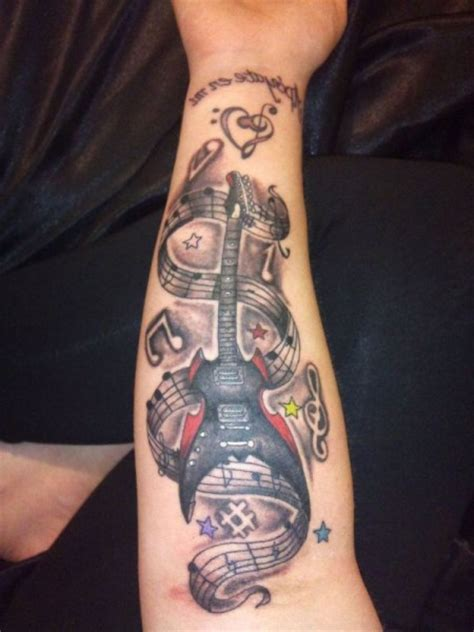guitar sleeve tattoo designs guitar tattoos