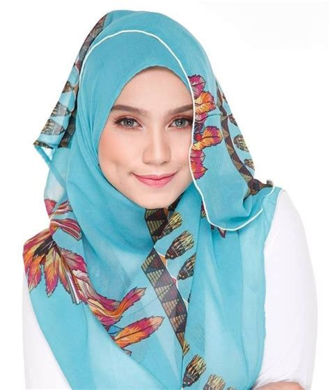 Pashmina Instant Cerruty Khaylila Lime must floral shawls from tudung2u this
