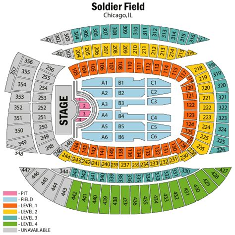 soldier field seating chart bon jovi and kid rock july 30 tickets chicago soldier