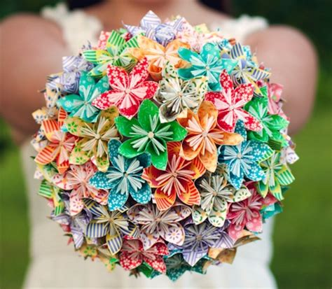 Origami Flowers Wedding - an origami wedding arabia weddings