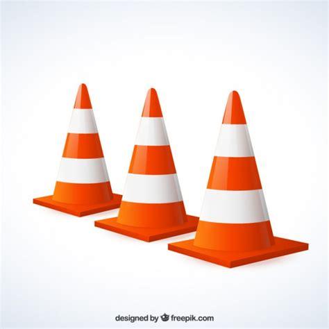 Baustellenschild Vektor Free by Traffic Cones Vector Premium Download