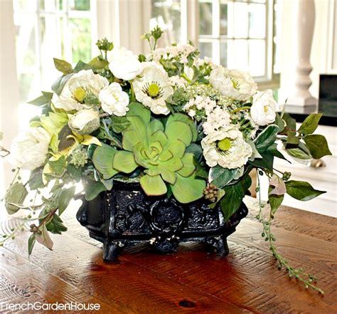 elegant white rose blue hydrangea and pink garden floral