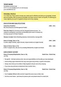 Resume Personal Profile Fast Help Cv Writer Guide