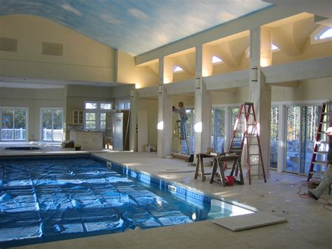 House Building Estimate by Architectural Builders Of Hampstead Inc Indoor Pool House