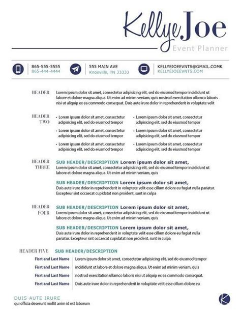 creative event planner resume search